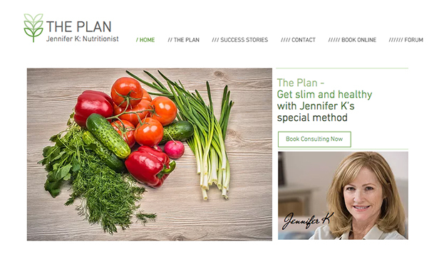 Consulting & Coaching website templates – Nutrition Coach