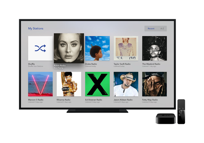 Pandora comes to Apple TV...