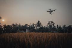 Drone at sunset, Bali - 2015