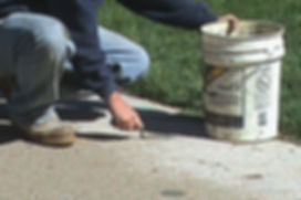 Patching holes with concrete patch