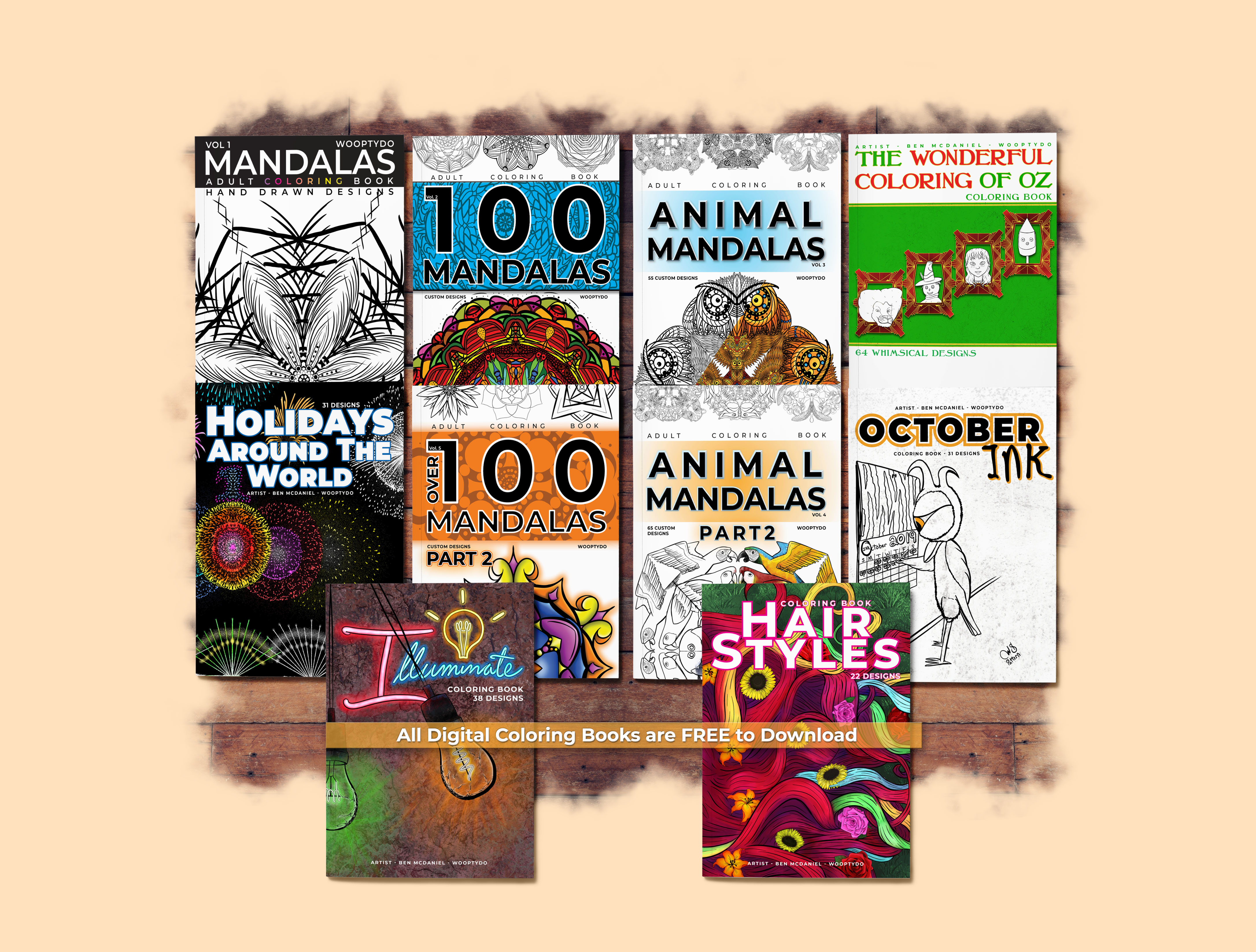 WooptyDo Adult Coloring Books