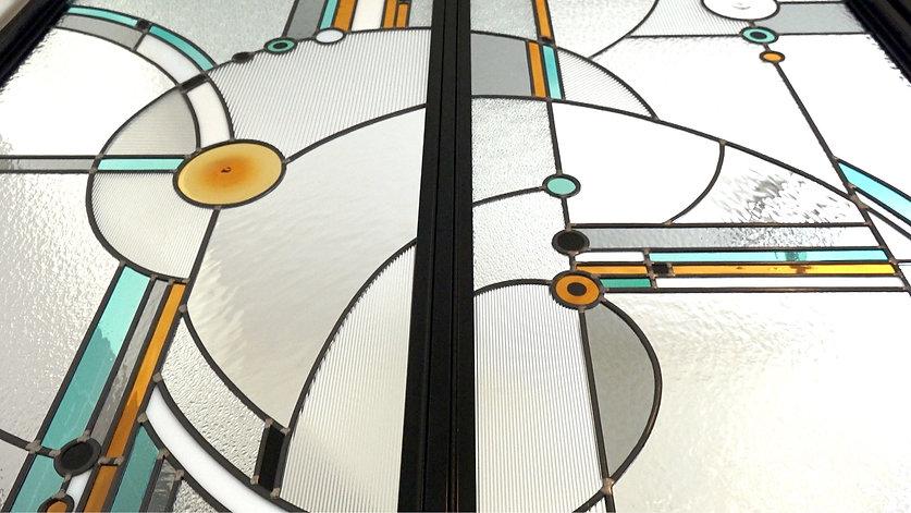 détail vitrail fabriqué par Marie Grillo