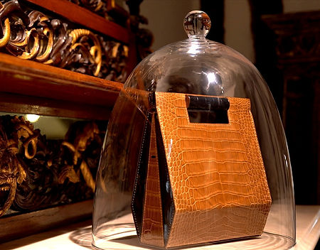 sac LA GARE du maroquinier VERBREUIL PARIS, sac sous cloche