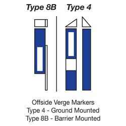 Marker Posts Blue
