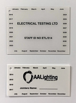 Test Earth & Jointing Labels
