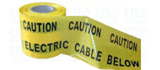 High visibility warning plastic tape