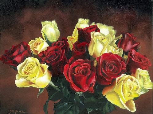 Birthday Roses 12x14