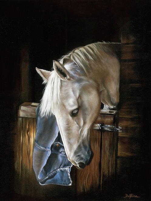 Stable horse 24x30