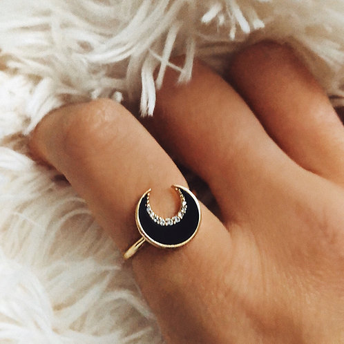 "BAGUE ""BLACK MOON"""