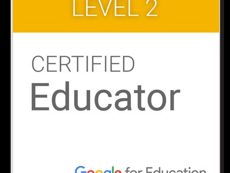 Google認定教育者レベル2再認定に合格