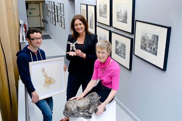Spirited Wildlife artists Andy Broderick, Emma Stothard and Stef Ottevanger