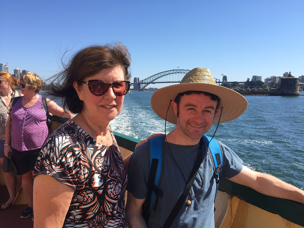 Experiencing Sydney harbour, with Cathy from Eastend Stationery