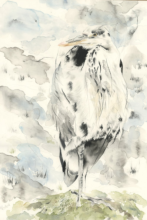 Heron - Original Painting