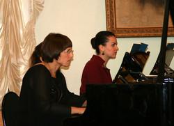 Ирина-и-ММ-исполняют-концерт-Баха