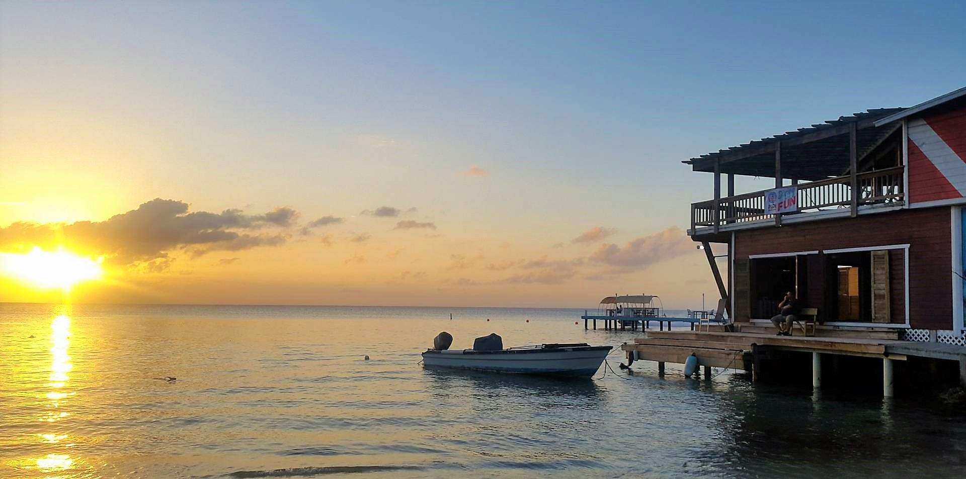 Sunset at Roatan Dive Center