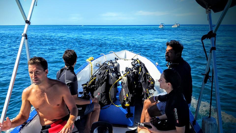 Dive site are close