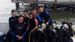 Cruise ship divers