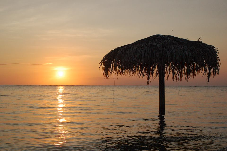 Sunset at Roatan Dive Center