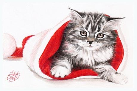 Рождественский котёнок