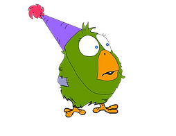party Green Bird.png