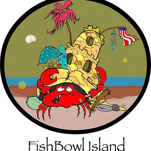 Resident Crabsner | Fishbowl Island | Short-Sleeve Unisex T-Shirt