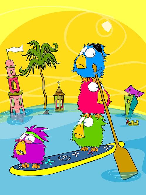 The Paddle Birdz | SoBeach'N Bag | Lined