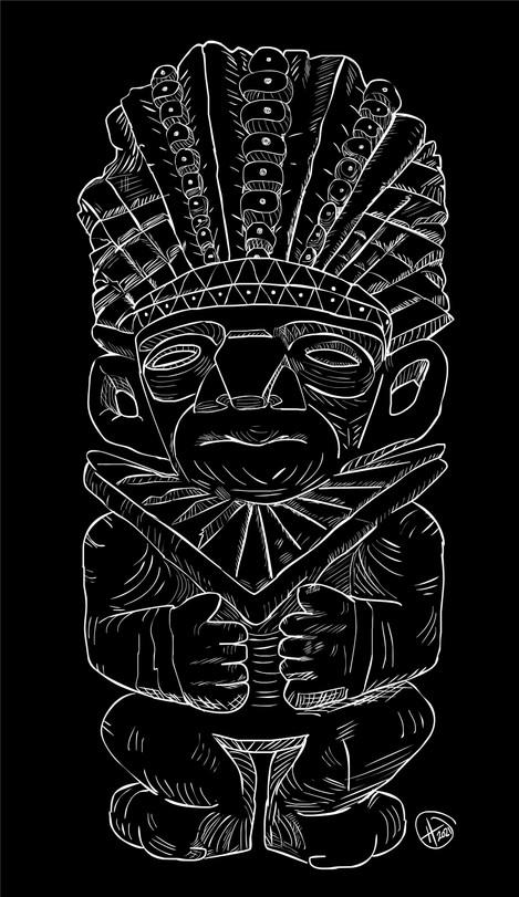 King Luis - CQ Garden Tiki Card Image Black