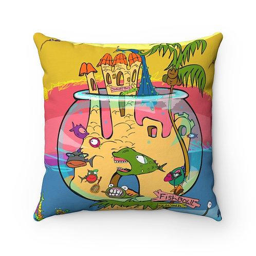 FishBowl Island | Spun Polyester Square Pillow
