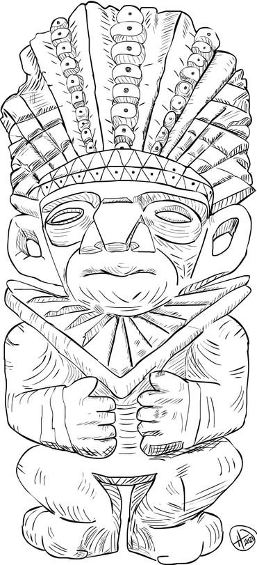 King Luis - CQ Garden Tiki White