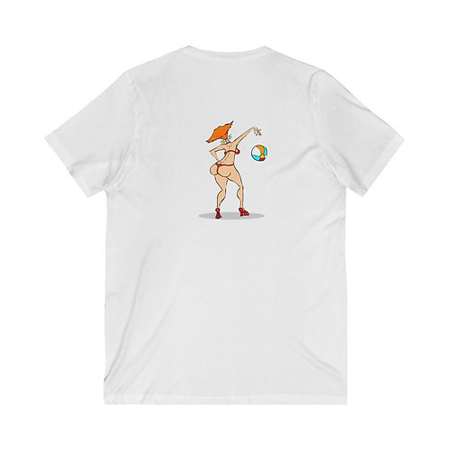 Unisex | South Bitch | Two Sided Print | Jersey Short Sleeve V-Neck Tee