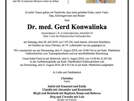 Dr. med. Gerd Konwalinka †