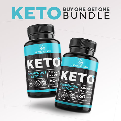 Keto Diet Pills+ 60 capsules Buy 1 Get 1 Keto Bundle from Herbs of the Earth