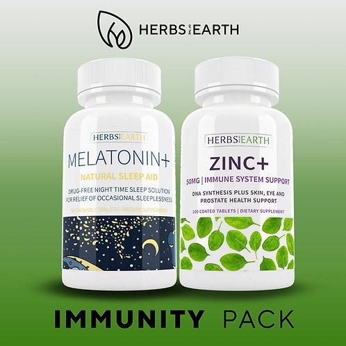 Melatonin+Zinc Immunity Pack