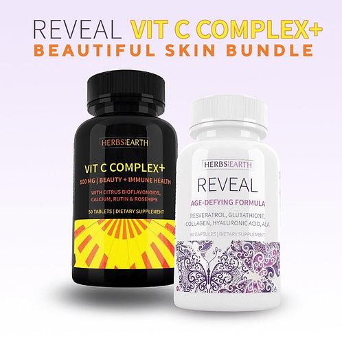 REVEAL Age Defying Whitening + Vitamin C 500mg Beauty Set