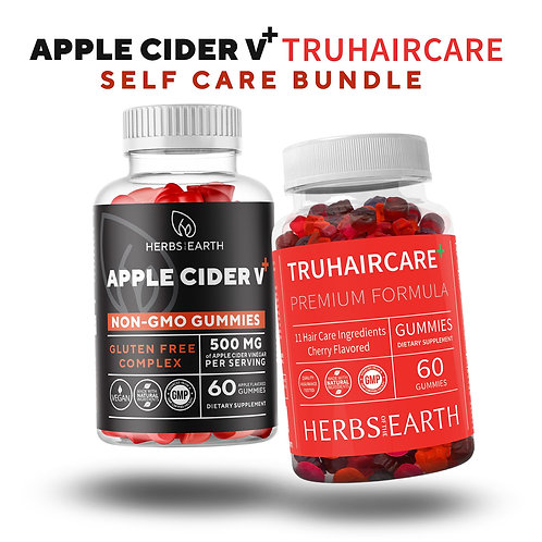 Apple Cider Vinegar 60 Gummies & TruHairCare Hair Growth and Thickness Maximizer