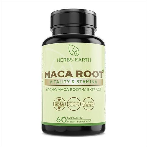 Maca Root Capsules - Pure Organic Maca Root Extract 4:1 1600MG
