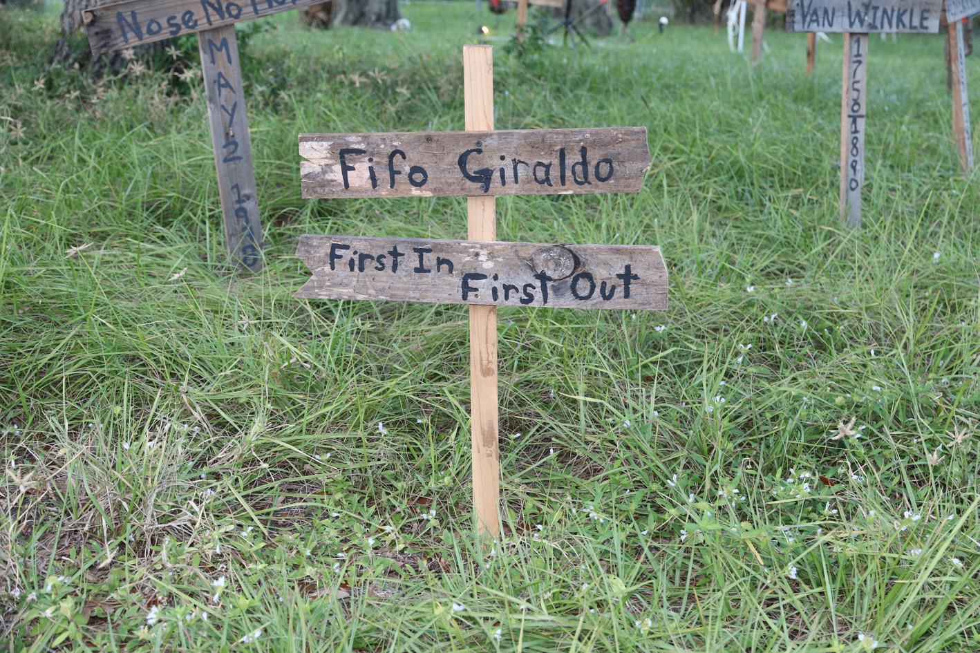 Fifo Giraldo, named for the family dog