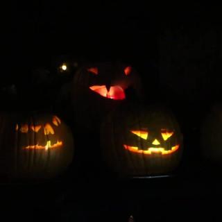 Singing & Flaming Pumpkins