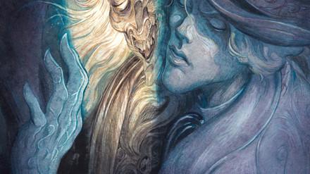 Ilustración para la portada del cómic Dorian Gray