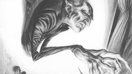 Nosferatu, lápiz sobre papel