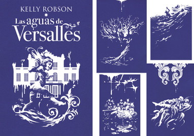 Cubierta e ilustraciones interiores para Las aguas de Versalles, de Kelly Robson
