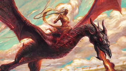 Danza de dragones, óleo