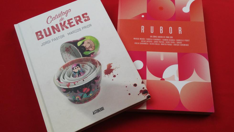 Historieta en Rubor y cubierta de Catálogo de bunkers
