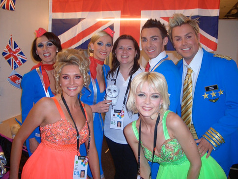 Backstage at The EUROVISION Song Contest