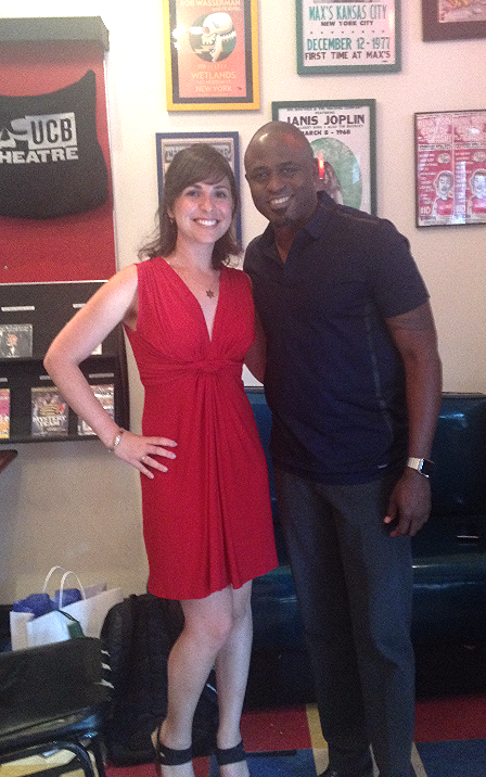 With Wayne Brady