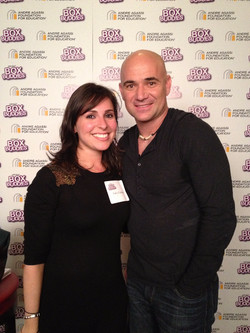 With Andre Agassi