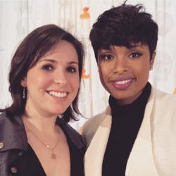 With Jennifer Hudson
