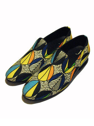 African Vlisco Fabric Loafers