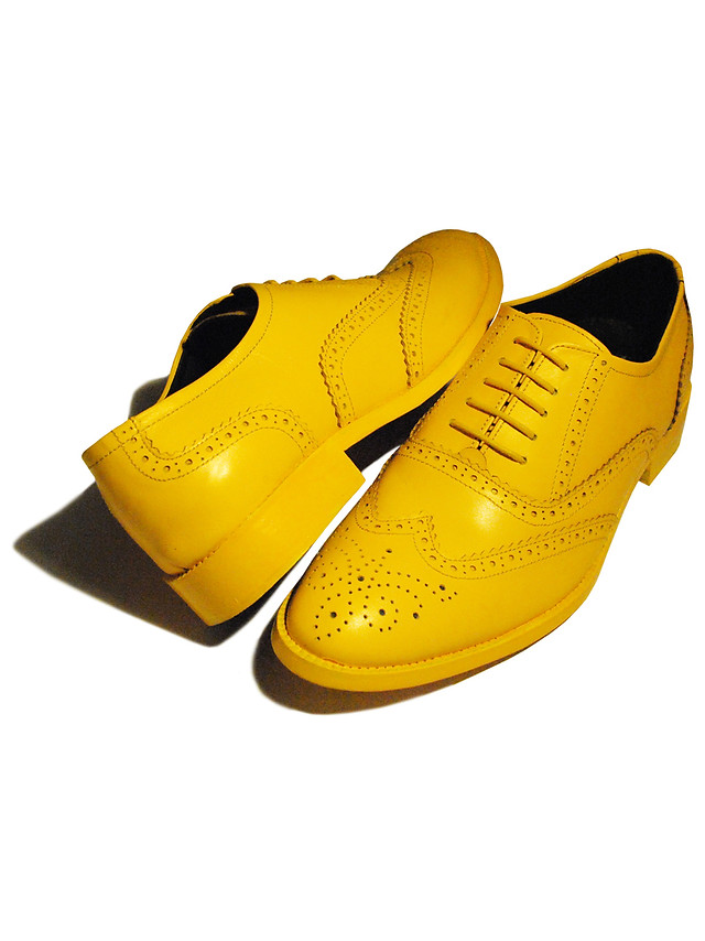 Matte Yellow Brogues