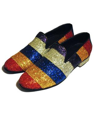 Rainbow Glitter Loafers